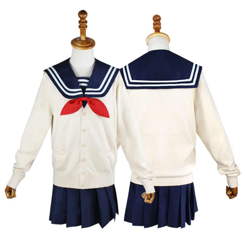 My Hero Academia Cosplay Costume Anime Cosplay Boku no Hero Academia Himiko Toga JK Uniform Women Sailor Suits with Sweaters
