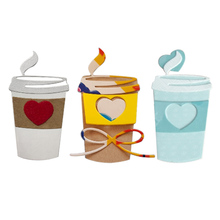 Drink cup Carbon steel Cutting Dies Stencil Craft for DIY Creative Scrapbook Cut Stamps Dies Embossing Paper Hand Craft hand bag carbon steel cutting dies stencil craft for diy creative scrapbook cut stamps dies embossing paper hand craft