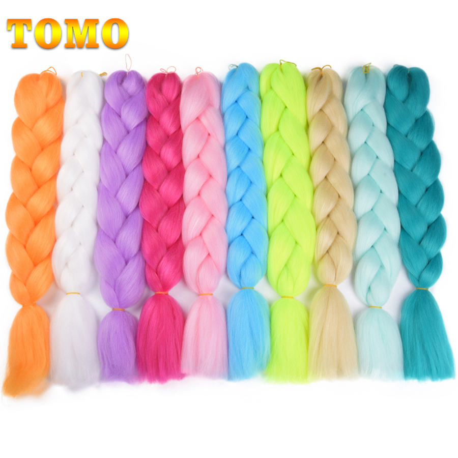 Cooperative Tomo 24 Ombre Kanekalon Braiding Hair Synthetic Crochet Braid Hair Extensions 100g Jumbo Braids Boxing Hair Dreadlocks Bulk To Produce An Effect Toward Clear Vision Hair Braids