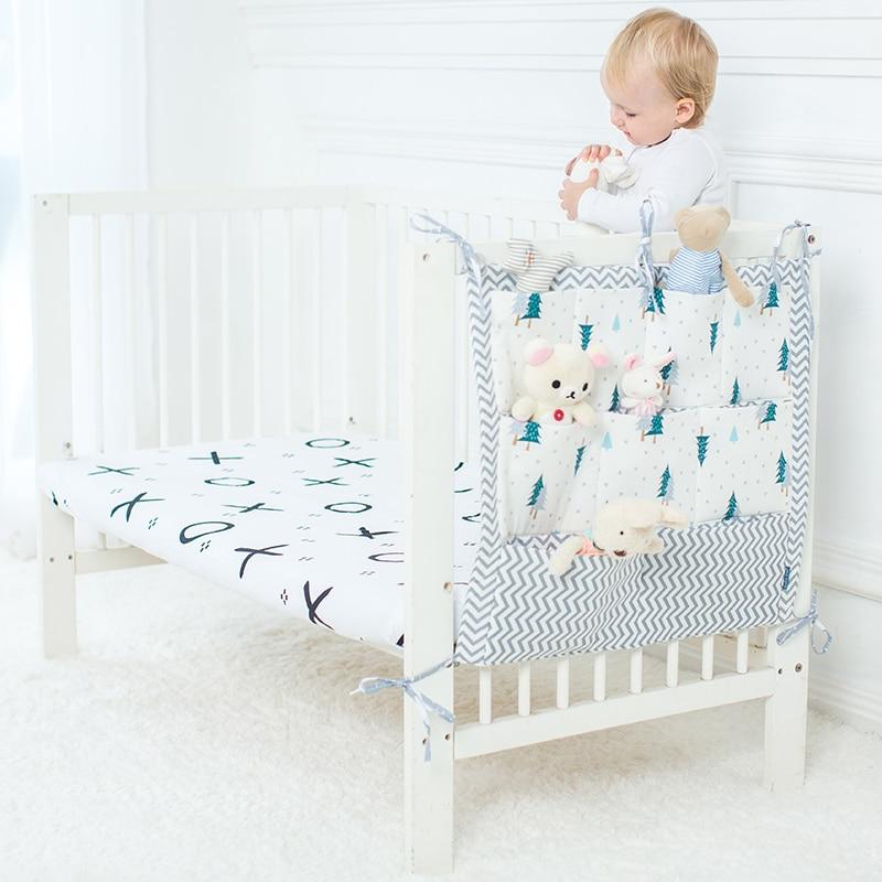 Baby Hanging Storage Bag Organizer For Baby Cots Crib Organizer Baby Bed Accessories Bed Pocket Newborn Crib Bedding Cradle Cot