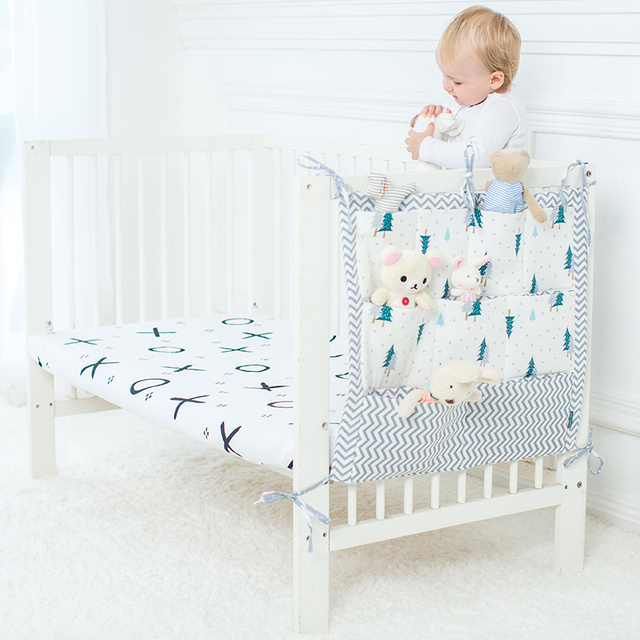 Bebé colgante bolsa de almacenamiento organizador para cunas cuna ...
