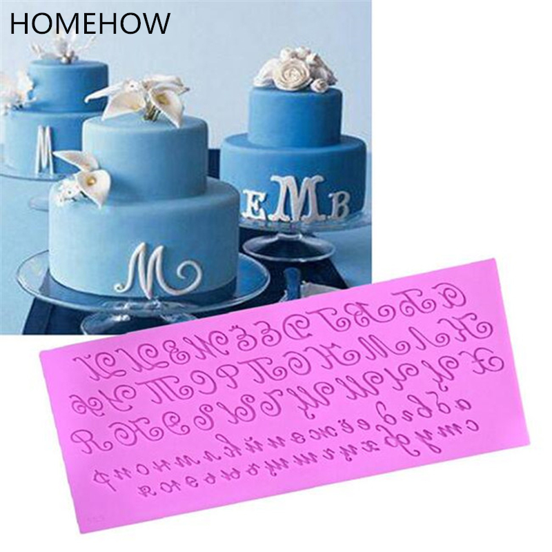 1PC Lot Big Size Art Font Alphabet Letter Silicone Mold 24810506cm Party Supplies Birthday Cake Decorating