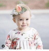 Fleur artificielle enfants hairband fleur ensemble bébé coiffe accessoires cheveux
