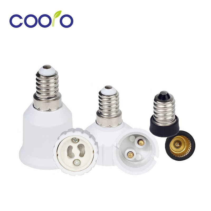 Bulb Converter E14 to E12/ B22/ GU10 / E27 Lamp Socket Bulb Base For LED Corn Bulb Extend Adapter Free Shipping
