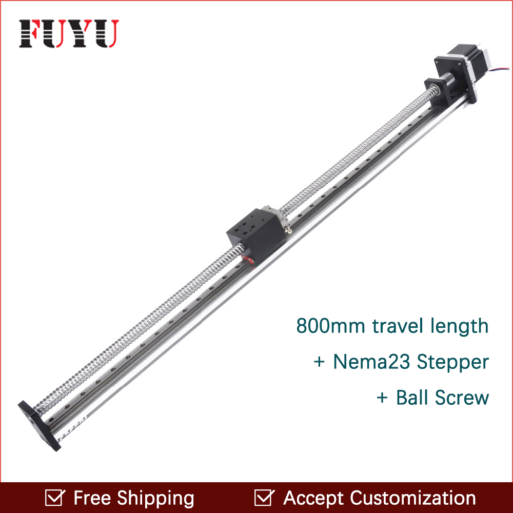 Free Shipping 800mm travel motorized linear translation for cnc machine translation competence development