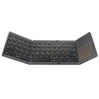 Tri Folding Wireless Bluetooth 3.0 Keyboard with touchpad Rechargeable Foldable for Xiaomi Redmi Note 5 Mi A2