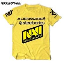 gaming team T Shirt CS DotA2 SC2 WOT Navi Natus Vincere Print T-Shirt O Neck cotton camisetas top tees TShirt
