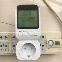 EU Plug Energy Meter Electric Digital Socket Analyzer Plug Power Meter Voltage Amps Watt Meter Tester Socket Monitor