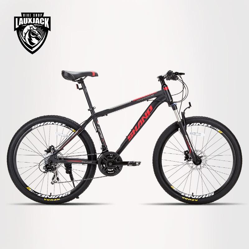 Mountain bike aluminum frame 24 speed Shimano 26 wheels disc mechanical brakes