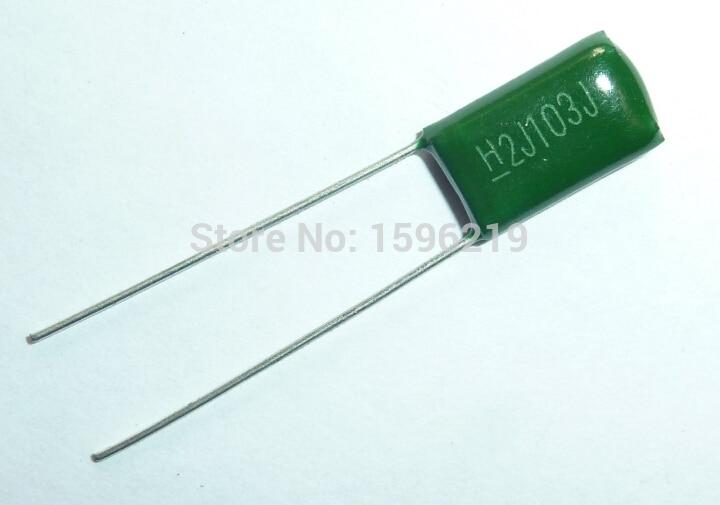 100pcs Mylar Film Capacitor 630V 2J103J 0.01uF 10nF 2J103 5% Polyester Film Capacitor