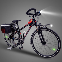 Cycling Bicycle for Men, 21/24/27 Speeds, 700C, Aluminum Alloy Frame, Road Bike, Double Disc Brake, Butterfly Handlebar.