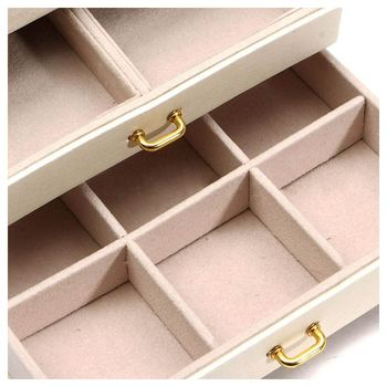 Large Jewelry Packaging Display Box Armoire Dressing Chest with Clasps Bracelet Ring Organiser Carrying