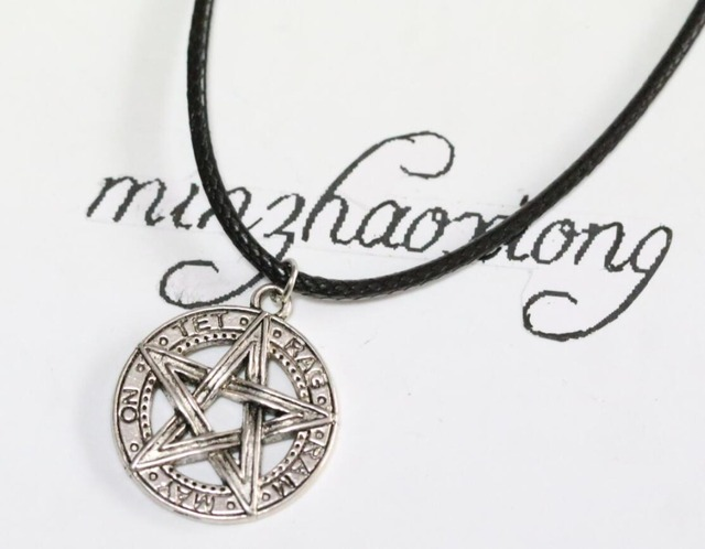 Tibetan silver pentagram pentacle pendant necklace tet rag ram may tibetan silver pentagram pentacle pendant necklace tet rag ram may on satan devil aloadofball Gallery