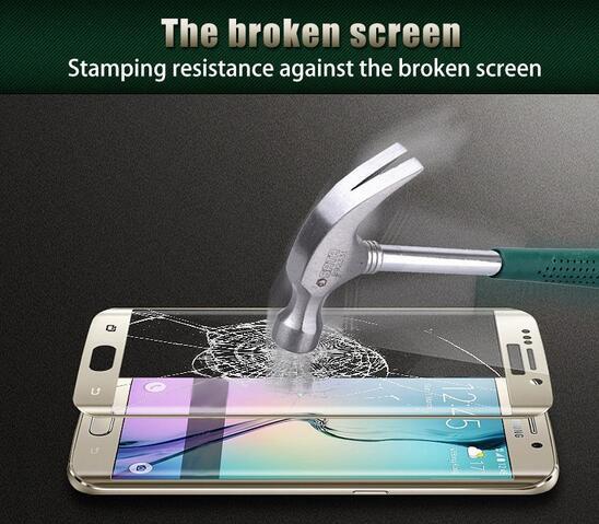 Untuk Samsung Galaxy S6 Tepi S7 S7 Tepi Kaca Tempered 3D Melengkung - Aksesori dan suku cadang ponsel - Foto 3
