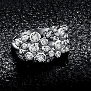 Image 3 - Jewelrypalace 巨大なキュービックジルコニアリング 925 スターリングシルバーリング女性用スタッカブルリングシルバー 925 ジュエリーファインジュエリー
