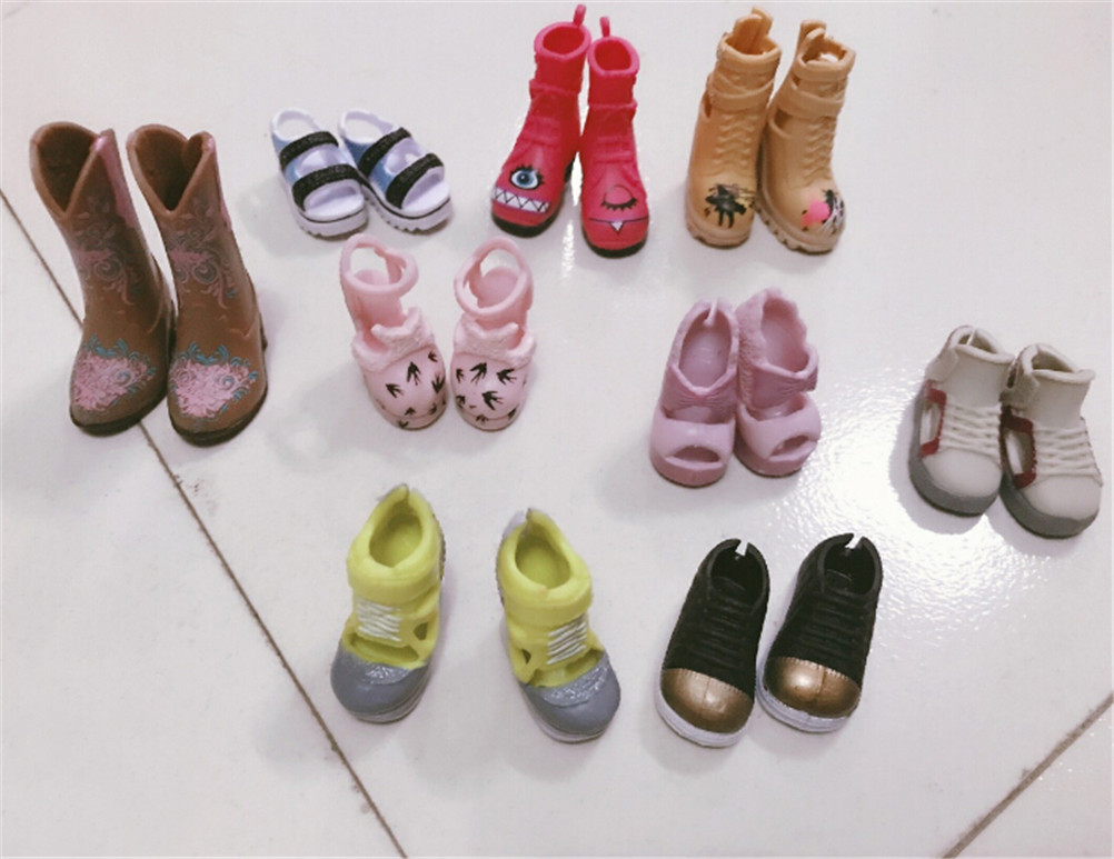1Pair Colorful Fashion Boots High Heels Shoes Boots Cute DIY Clothes For  Doll  Doll Accessories Gifts Random Color And Styles