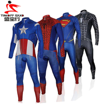 Super Hero Cycling Jerseys Breathable Ropa Ciclismo Invierno Thin Bicycle Clothing Quick Dry Long Sleeve Bike Sportswear