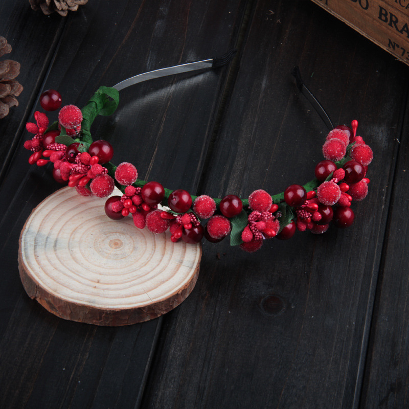 AWAYTR Womens Bohemia Flower Bezel Glass Beads Hair Bands New Female Girls Festival Flower Headband Hair Accessory   Headwear