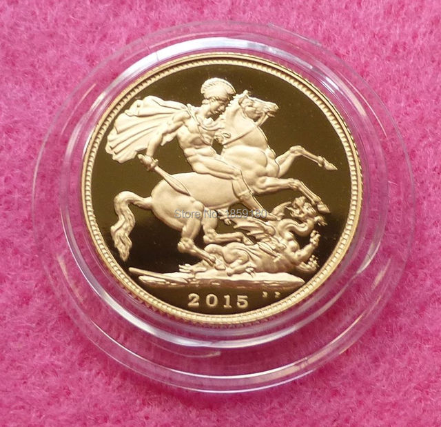 2015 Gold FULL Sovereign Queen Elizabeth II OLD HEAD, 25pcs/lot Free  shipping
