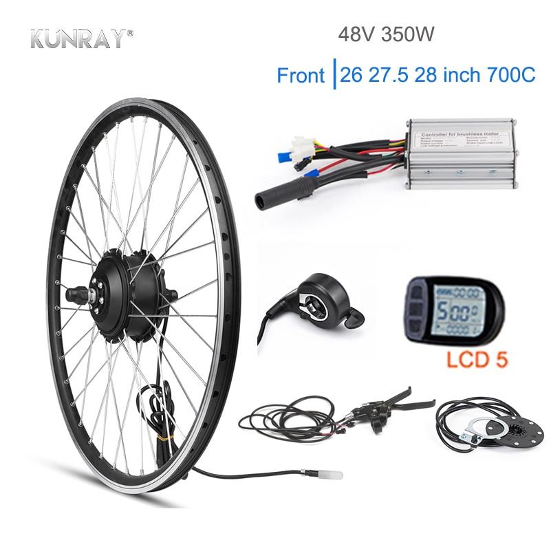 KUNRAY Électrique Kit Moteur Roue Pour vélo de montagne 48 V 350 W 26