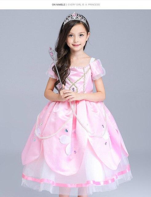 Niñas ropa niños Princesa Sofía vestido nieve reina disfraz Elsa ...