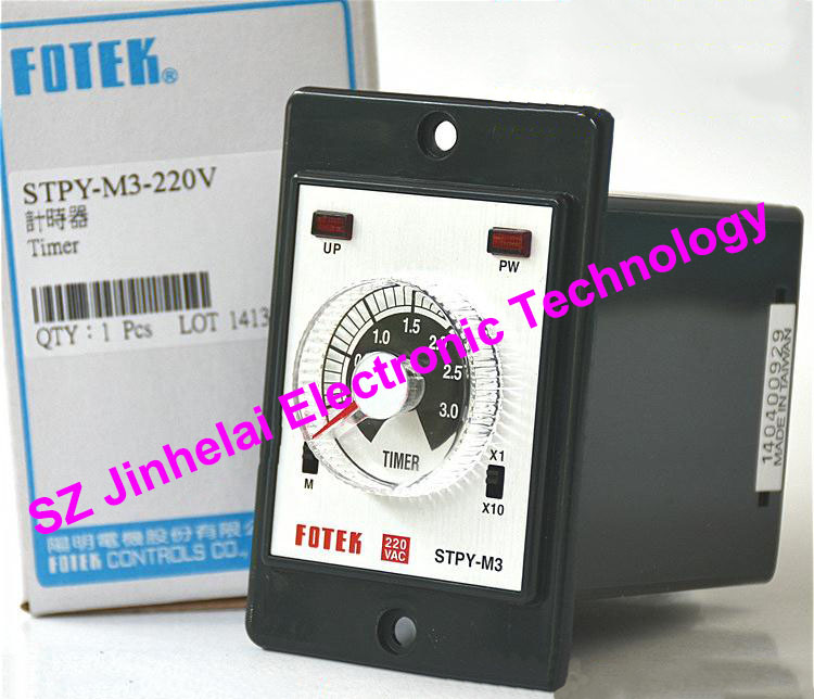 New and original FOTEK Time relay  STPY-M3-220V 100% new and original fotek photoelectric switch a3g 4mx mr 1 free power photo sensor