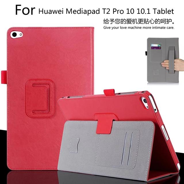 Для Huawei MediaPad T2 Pro 10 FDR-A01W FDR-A03L 10.1 дюймов Tablet Luxury Кожаный Бумажник Карты Ручной Ремешок Стенд Случае Покрытия