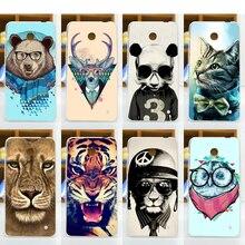 Горячий Продавать 11 Шаблоны Живопись цветные животных Case Для Nokia Lumia 630 635 636 Тяжелых Случаях Задняя Крышка тигр лев медведь дизайн