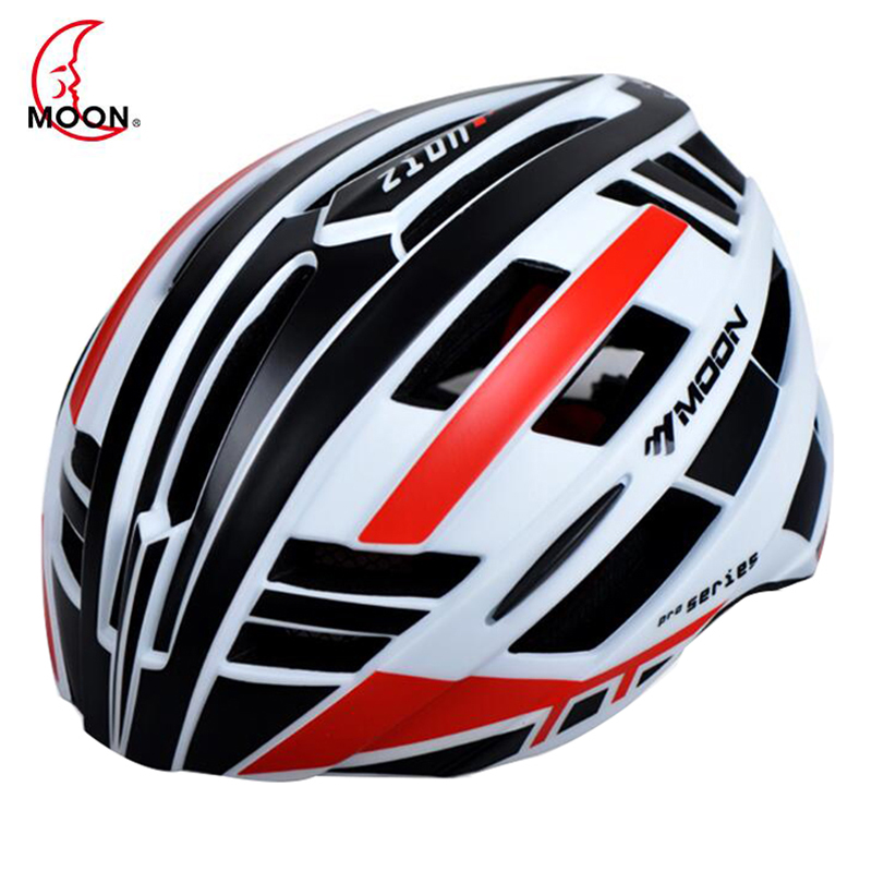 MOON Bicycle Helmet Integrally-molded Cycling Helmet Outdoor Sports Road Mountain MTB Bike Helmet With LED Warning Lights topeak outdoor sports cycling photochromic sun glasses bicycle sunglasses mtb nxt lenses glasses eyewear goggles 3 colors