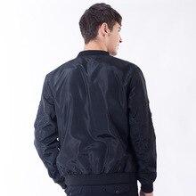 New Mens Jacket Spring Autumn Fashion Printing Stand Collar Male Casual Jacket Coat Men Pilot Jacket Coat Brand Clothing AFJ37