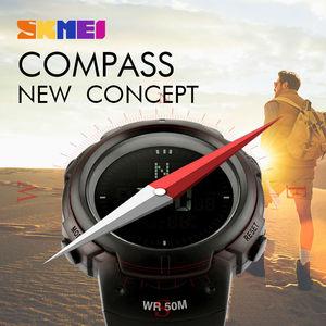 Image 3 - Skmei Outdoor Sport Horloge Mannen Kompas Countdown Horloges 5Bar Waterdichte Multifunctionele Digitale Horloge Relogio Masculino 1231