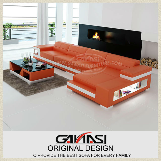 modern red sofa beds,2014 new design living room leather sofa set-in ...