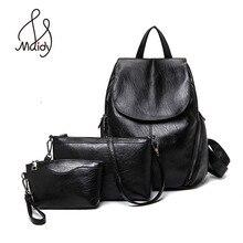 Рюкзаки для девочек-подростков Back Pack женская брендовая Повседневная Путешествия женщины школа подростки кожаный рюкзак сумки 3 шт. набор школа