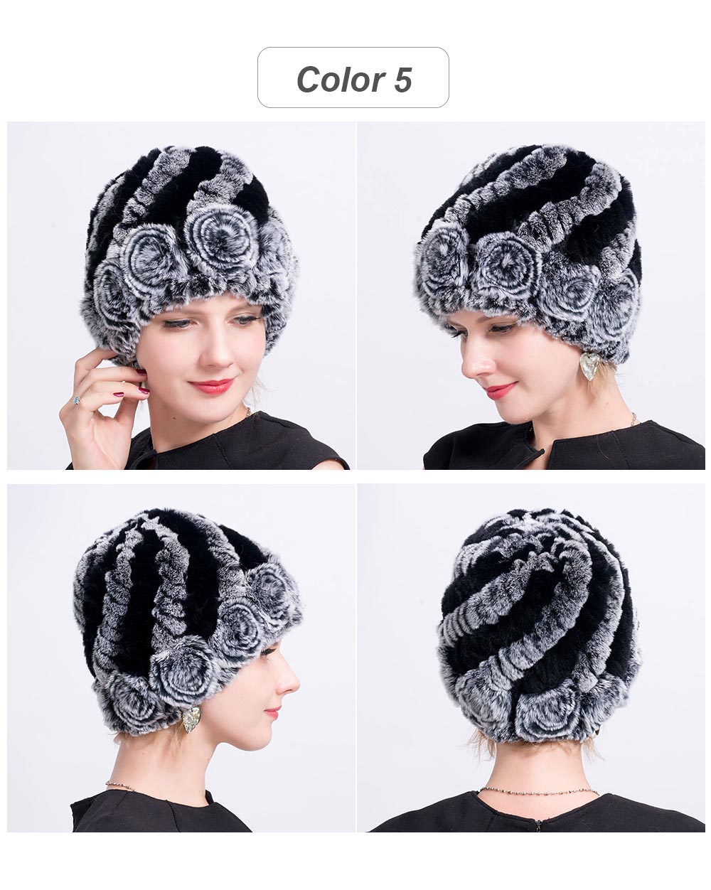 Women hat fur cap 05
