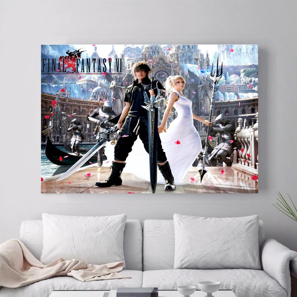 Final Fantasy Xv Game Canvas Art Print Painting Poster Wall Rhaliexpress: Final Fantasy Home Decor At Home Improvement Advice