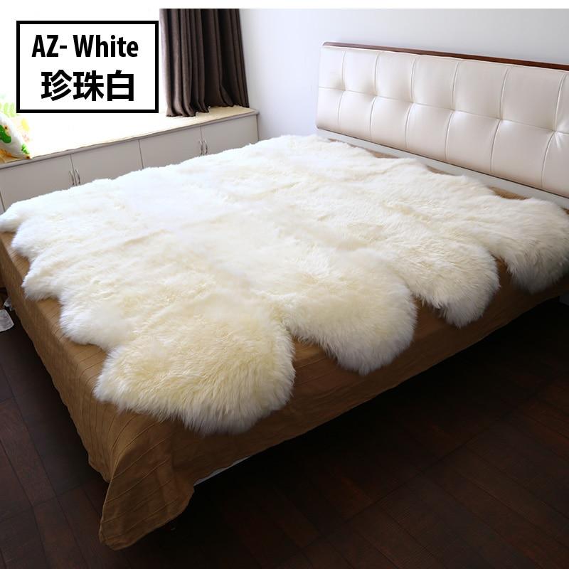 Russian Style Modern Sheepskin Fur Carpet For Living Room Decoration Bedroom Mattress Warming Rug Carpet