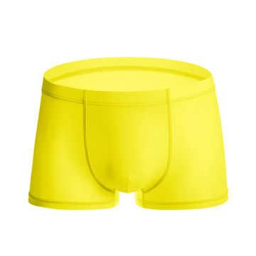 2019 zomer ijs zijde mannen ondergoed naadloze transparante boxershorts ultra dunne sheer ademend comfortabele slipje onderbroek