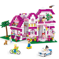 Sluban Model Building Compatible lego Lego B0536 726pcs Model Building Kits Classic Toys Hobbies Sunshine Villas
