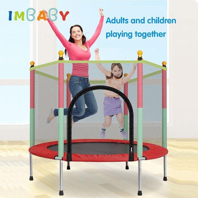 IMBABY Crianças Bouncer Jumper de Bebê Trampolim Interior Do Bebê Crianças Kid Jumpers Seguranças Com Guardrail Trampolim de Fitness Para Adultos