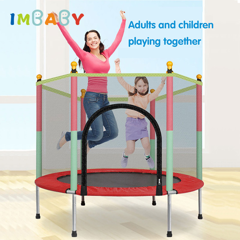 IMBABY Kids Bouncer Baby Jumper Indoor Trampoline Baby Children Bouncers With Guardrail Fitness Adult Trampoline Kid Home v3 VC