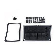 B35 5 Gang LED Waterproof Car/Boat/RV Rocker Switch Panel Circuit Breaker USB Socket 2016