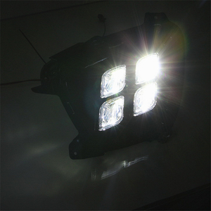 Image 5 - Araba yanıp sönen 1 takım KIA Sorento 2015 2016 2017 için LED DRL gündüz çalışan far günışığı su geçirmez 12v sis lambası araba Styling