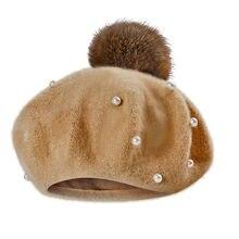 Infantil da criança do bebê crianças meninos meninas perolado bola gorro inverno quente chapéu boné