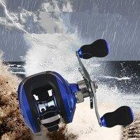 Baitcast Reel Fishing Wheel Gun Knob Lure Drum Reels Haba Magnetic Brake System Metal Rocker Arm