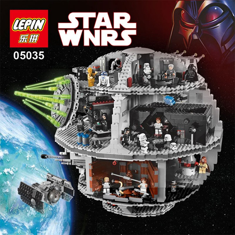 LEPIN 05035 Star series Wars Death Star Building Block Bricks Toys Compatible with Lego 10188 Child Educational Gift 3803 Pcs lepin 05040 y attack starfighter wing building block assembled brick star series war toys compatible with 10134 educational gift