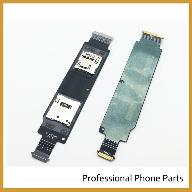New Sim Reader Flex For Asus zenfone 2 Ze500cl Z00D 5.0 Sim Card Slot Socket Holder Flex Cable Replacement In Mobile Phone