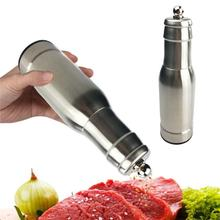 Stainless Pepper Grinder Novelty Home Kitchen Tool Manual Stainless Steel Salt Pepper Mill Spice Sauce Grinder A30