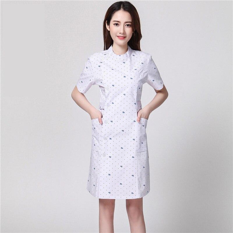 Unisex Lab Coats Knee Length Natural Uniforms Men Women S M L Clean out Sale