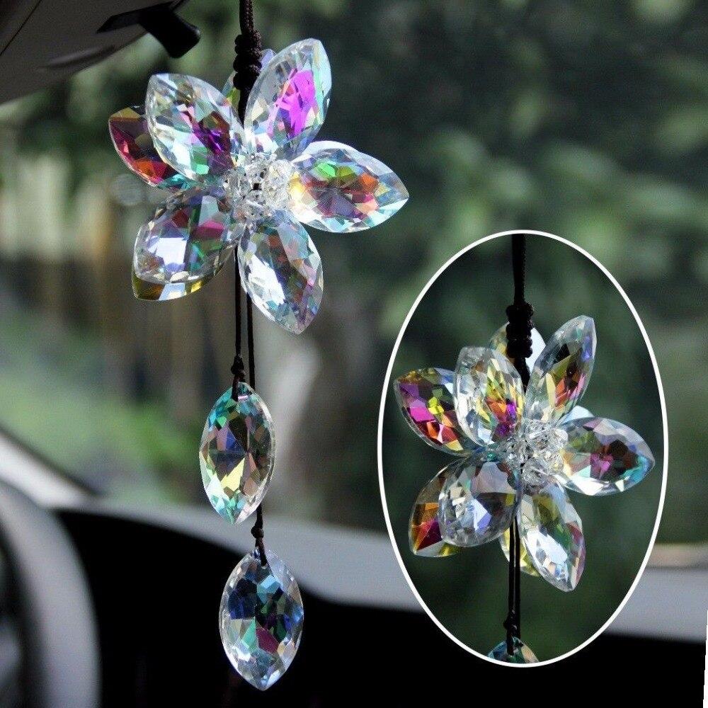 Car interior hanging - Beautiful Flower Car Pendant Lucky Hanging Ornament Car Interior Decoration China Mainland