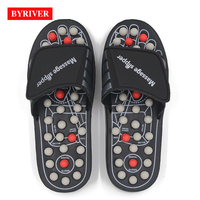 BEST Unisex Acupuncture Massage Shoes Relaxation Reflexology Foot Care Tool Pain Relief Health Slippers Gift for Parents